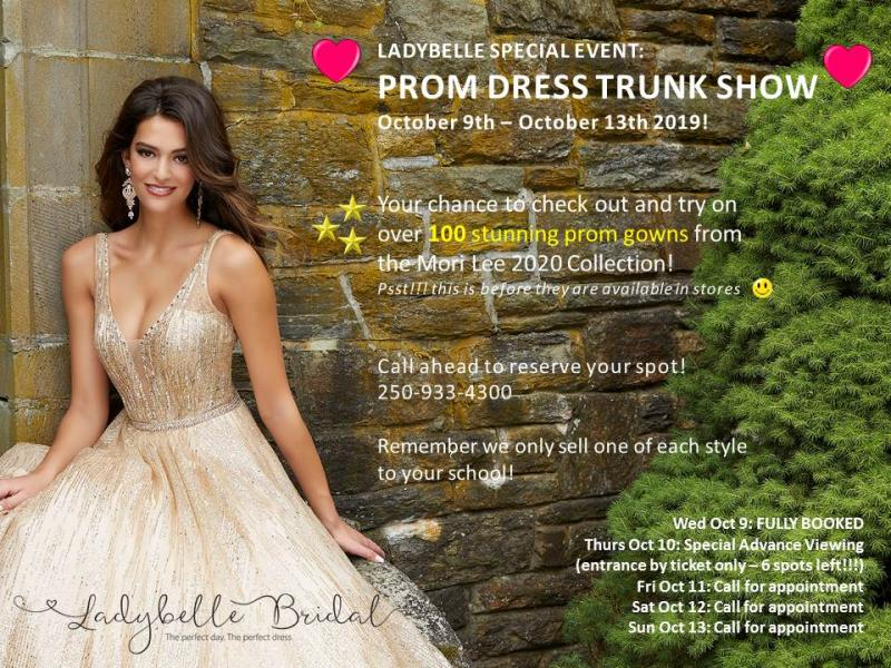 Prom Dress Trunk Show 2020